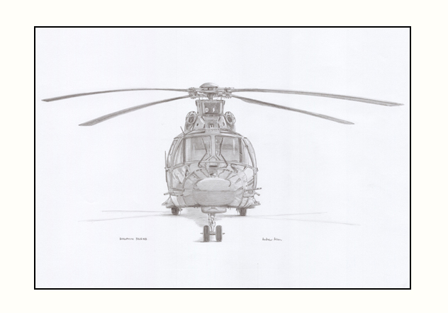 Military, Helicopter prints for sale - Dauphin 365 N3 signed limited edition print