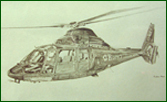 Fine art print of Dauphin helicopter