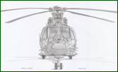 Fine art print of Dauphin 365 Helicopters pencil drawing
