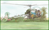 Fine art prints of British Army Sioux helicopter
