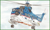 Fine art prints of Dauphin helicopter